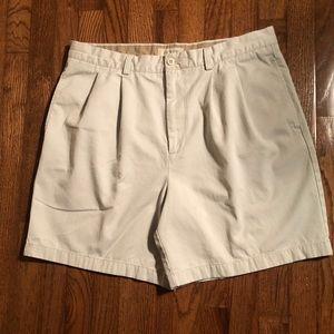 J. Crew Pleated Classic Fit Khaki Shorts SZ 36